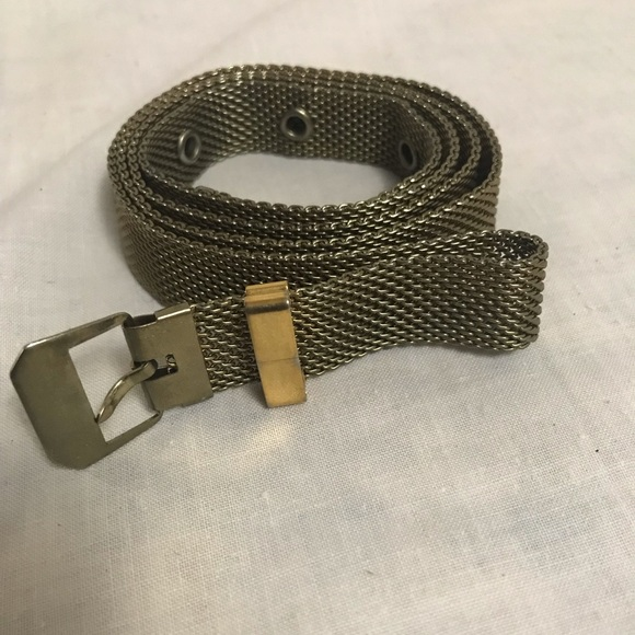 Accessories - VINTAGE MESH BELT/METAL